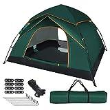 UOUNE Camping Zelt 3-4 Personen Kuppelzelt Wasserdicht Zelt Ultraleichte UV Schutz Wurfzelt für...