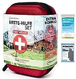 URBAN MEDICAL Premium Erste Hilfe Set aus Deutschland DIN 13167 + Regenponcho + Rettungsdecke |...