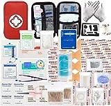 LISOPO 234pcs Erste-Hilfe Set Mini First Aid Kit Medizinisch Überlebens Kompakt Kit für Zuhause...